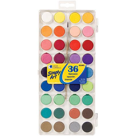simply watercolor paint cakes assorted colors 36 pkg walmart