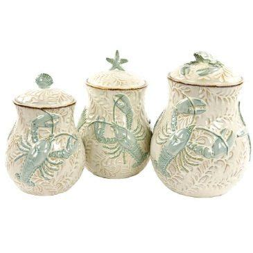 beach themed kitchen canisters canisters canister sets and bar on pinterest