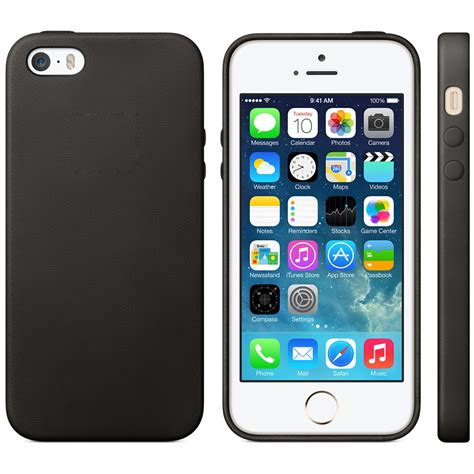 Big Black Bow For Iphone 5 5s leather cover slim protect for genuine mf045ll a apple iphone 5 5s black ebay