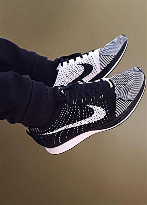 New Sepatu Running Nike Flyknit Racer Black White nike flyknit racer black white by nick braga sweetsoles sneakers kicks and trainers on