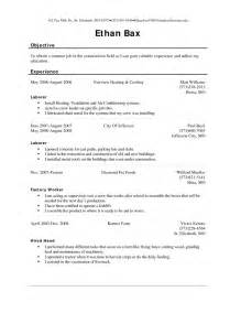 Sle Resume For Utility Worker by Utility Worker Resume General Utility Worker Sle Resume