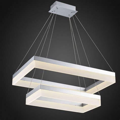 Rectangle Pendant Light Whole Led Pendant Light Modern Rectangle Pendant Suspension Light Fixture Silver Or Black Color