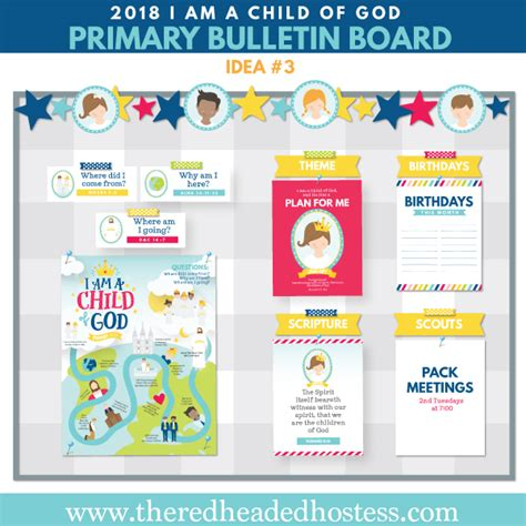 themes of god help the child 2018 lds primary theme bulletin board i am a child of god