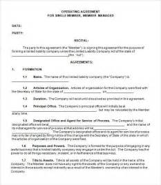 llc operating agreement template operating agreement template for llc template design
