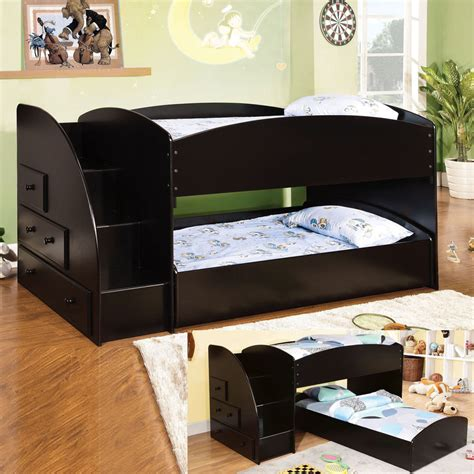 low loft bed with stairs low bunk beds for kids bunk beds with stairs
