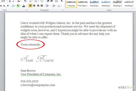 Business Letter Closing Respectfully How To Write A Business Letter With Sle Letters Wikihow