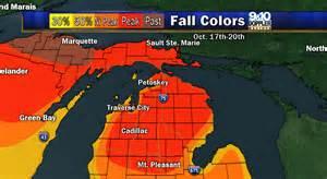 michigan fall color map 2015 fall color map of northern michigan mynorth