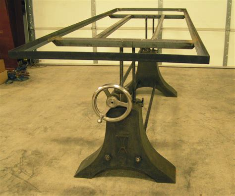industrial crank table base acutech works industrial style table base acutech works