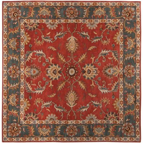 Square Wool Area Rugs Artistic Weavers Bradbury Rust Wool Square 9 Ft 9 In Area Rug The Home Depot Canada