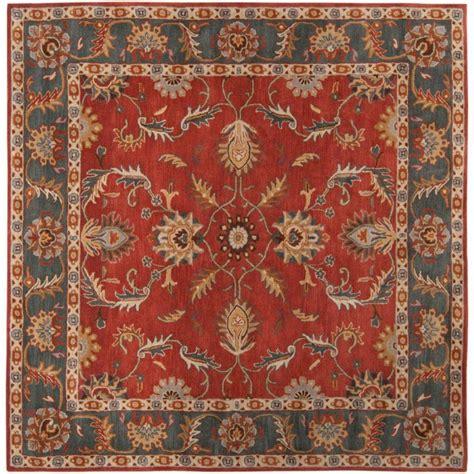 10 ft square all wool rug artistic weavers bradbury rust wool square 9 ft 9