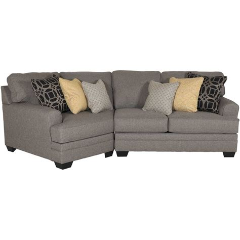 Pewter Sectional by Cresson 2 Pewter Sectional With Laf Cuddler