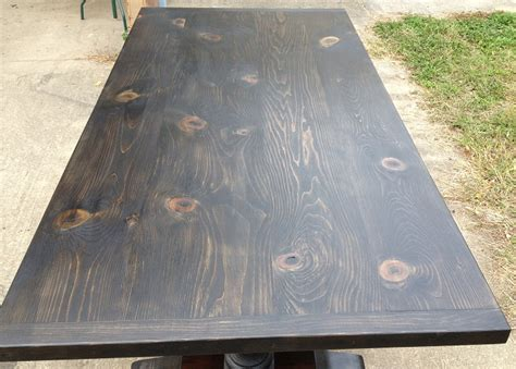 Ebony Stained New Pine Table And Chairman Fine Antique