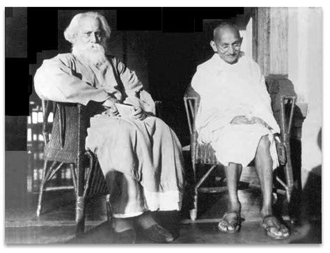biography mahatma gandhi bengali rabindranath tagore and gandhi reminisce pinterest