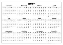 2017 yearly calendar templates download free printable