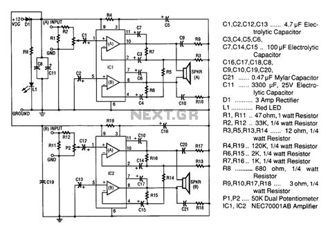 car stereo lifier circuit diagram wiring diagram