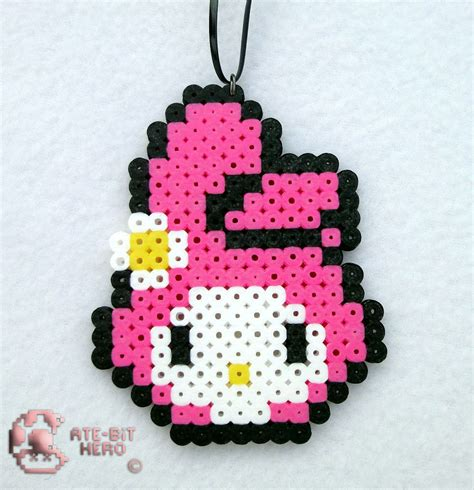 bead my onegai my melody anime necklace bead sprite perler ate