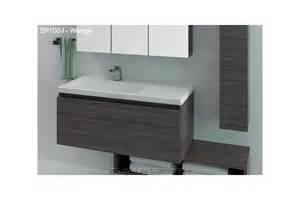 grand meuble salle de bain suspendu avec plan lavabo