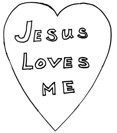 jesus heart coloring page jesus loves me heart coloring page 1
