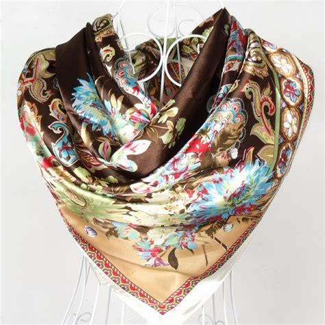 2015 new style satin big square silk scarf