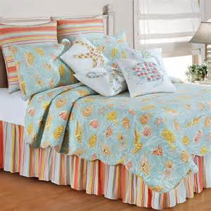bed quilts st martin coastal seashell quilt bedding