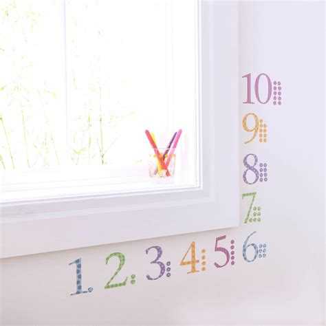 childrens number wall stickers with counters by kidscapes notonthehighstreet