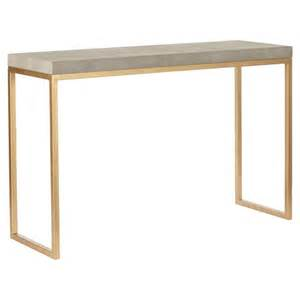 lantau faux shagreen gold console table oka