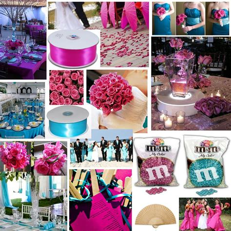 Turquoise And Pink Wedding Decorations by Aqua And Fuchsia Project Wedding