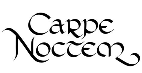 carpe noctem tattoo designs type patrycja zywert