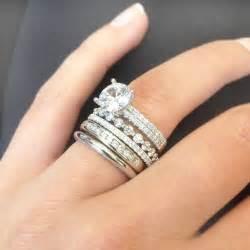 stackable diamond wedding bands
