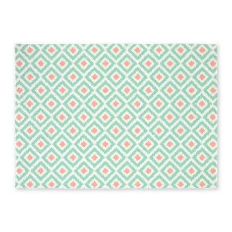 mint colored rug mint coral ikat pattern 5 x7 area rug baby mint rug