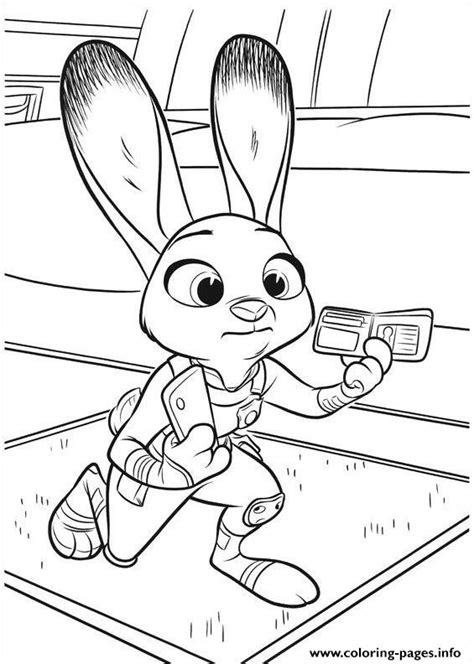 coloring page of zootopia zootopia coloring pages coloring home