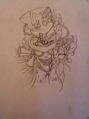mad hatter tattoo designs design mad hatter sketch design by
