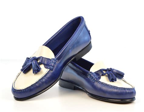 blue and white loafers blue white tassel loafer with leather sole the