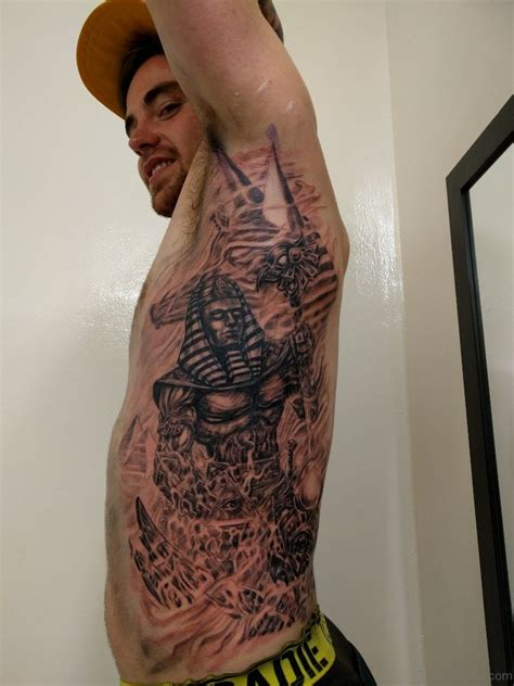 pharoah tattoo 21 mind blowing tattoos on rib