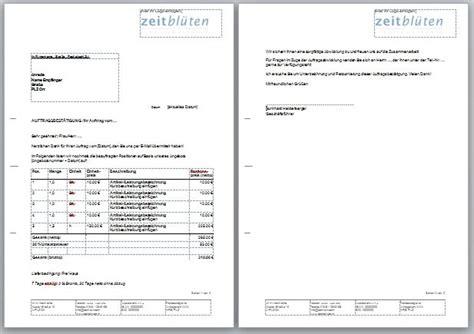 Transport Angebot Musterbrief auftragsbest 228 tigung inkl muster vorlage was sie