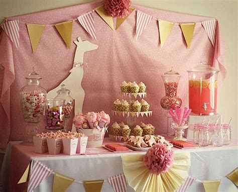 Pink Giraffe Baby Shower Decorations by Kara S Ideas Pink Giraffe Baby Shower Kara S