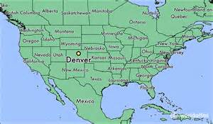 united states map showing colorado where is denver co where is denver co located in the