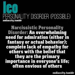 leo potential personality disorder psychology