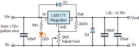 variable bench power supply circuit variable voltage power supply using the lm317t