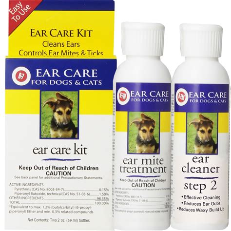 ear mite treatment for dogs miracle care r 7 ear care kit for dogs cats 2oz r 7 cleaner 2oz r 7 ear mite