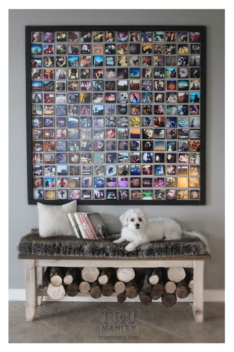 wall picture collage ideen diy instagram wall trumanity