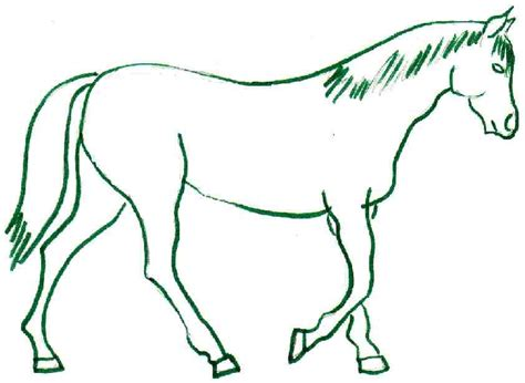 drawing images for kids horse coloring page
