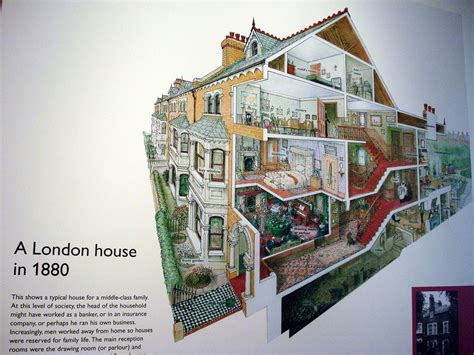 Two Story Mobile Home Floor Plans 1880s London House Cutaway Diagram At The Geffrye Museum