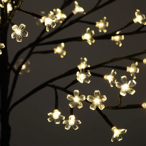 blossom lights 45cm led blossom cherry tree l 64 warm white lights home