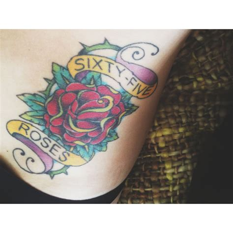 cf tattoos 65 roses cystic fibrosis awareness