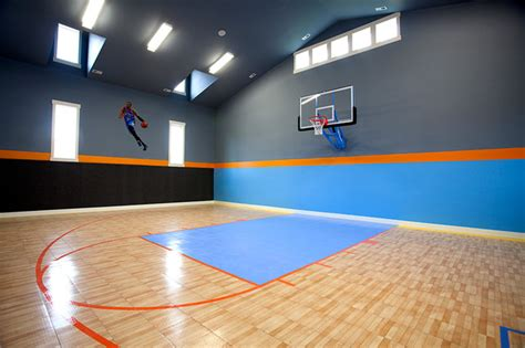 Ceiling Lights For Dining Room by Indoor Basketball Court Transitional Home Gym Salt