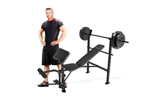 competitor workout bench marcy competitor workout bench with 80 lbs weight set