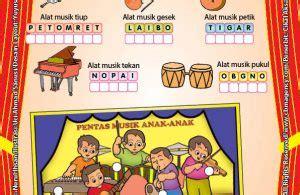 Buku Anak Aktifitas Tk A B worksheet paud tk a b mengenal alat musik ebook anak