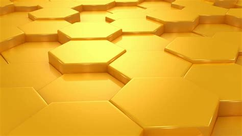 yellow hexagon pattern block abstract honeycomb arrows background stock footage video