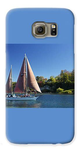sail boat taupo yacht fearless on lake taupo galaxy s6 case for sale by